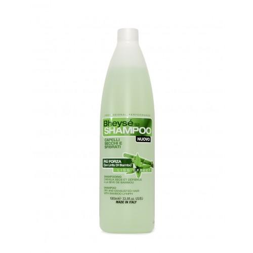 Shampoing  professionnel cheveux secs et défibrés à la sève de bamboo BHEYSE - S2
