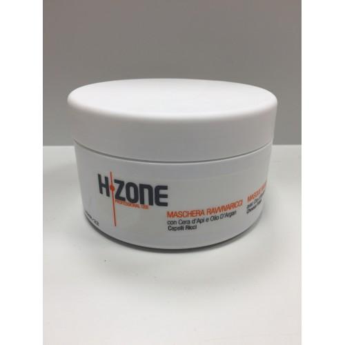 Masque ravive boucle à la cire d'abeille et huile d'argan par H-Zone pour cheveux frisés, sans Paraben et sans Sel